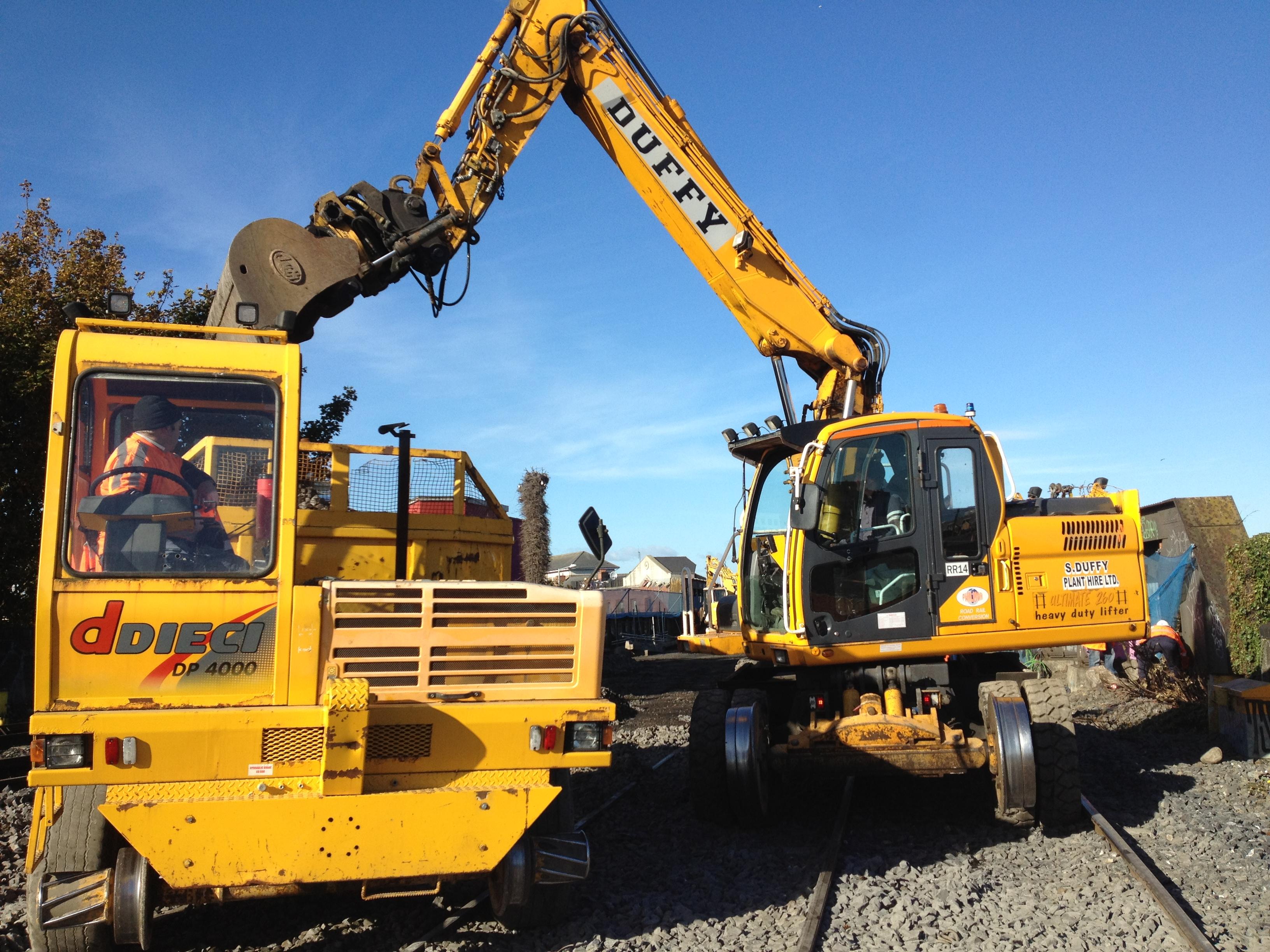 S Duffy Plant Hire Deici Rail Road Dumper