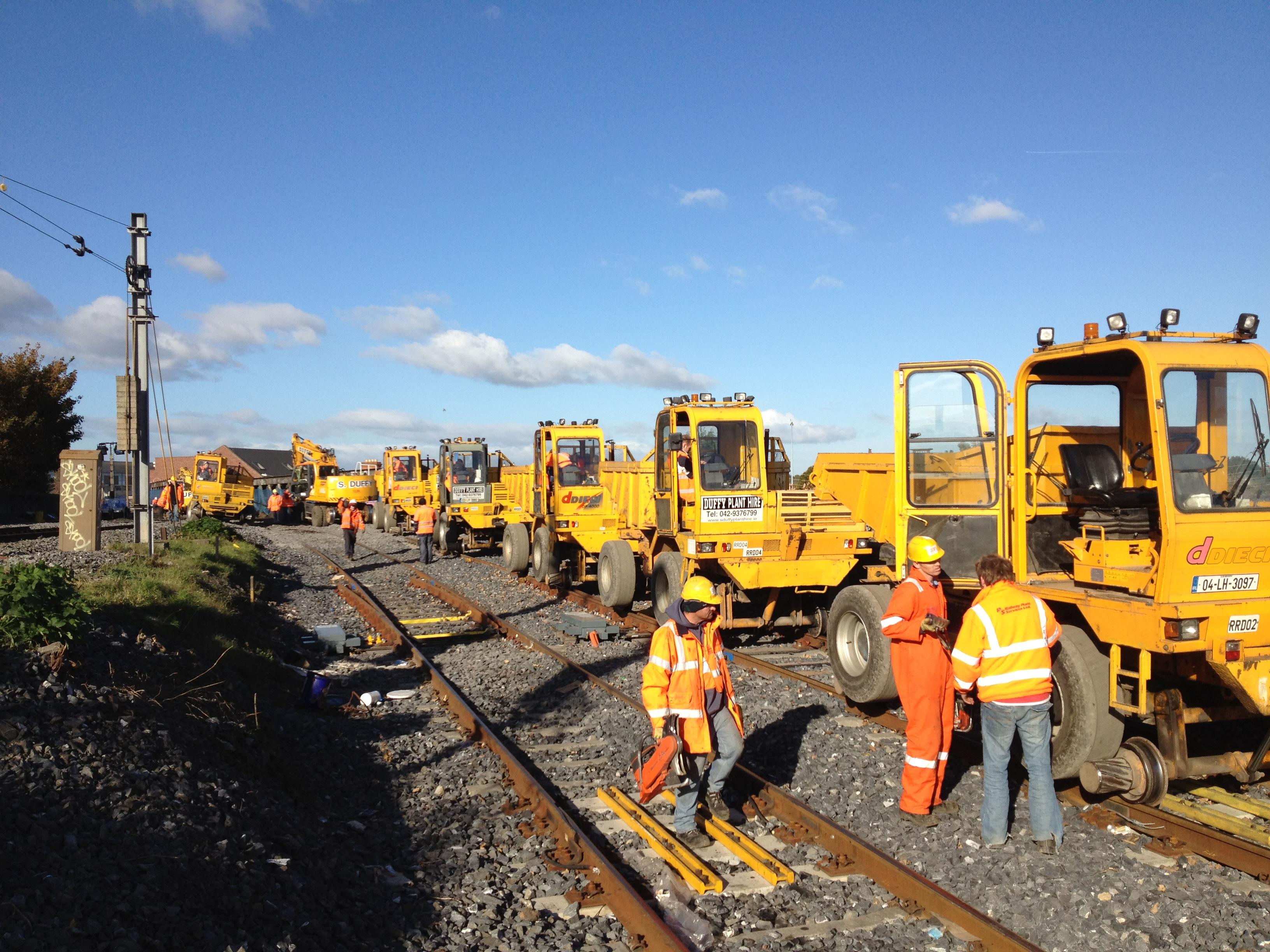 S Duffy Plant Hire Deici Rail Road Dumpers