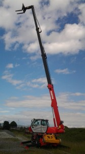 Manitou with boom extended